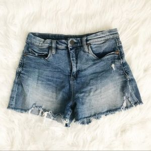 Blank NYC Retro High Distressed Shorts